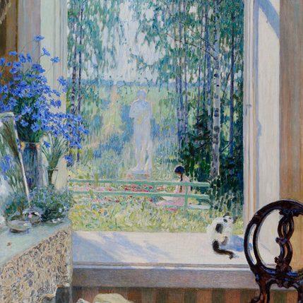 """""""Fenêtre sur le jardin"""", Nikolaï Bogdanov-Belski, 1931 Musée de l'Impressionnisme de Moscou"""