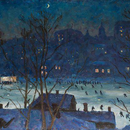 """""""La patinoire """"Dinamo"""" """", Piotr Konchalovski, 1948 Musée de l'Impressionnisme de Moscou"""